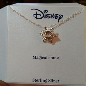 Disney sterling silver snowflake necklace